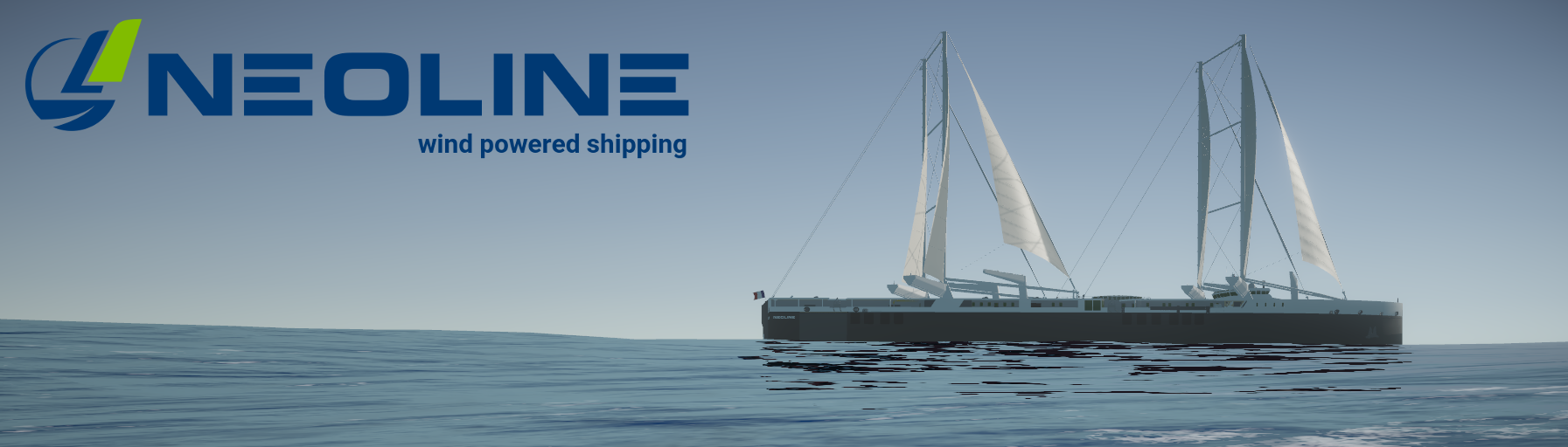 NEOLINE wind powered shipping bannière