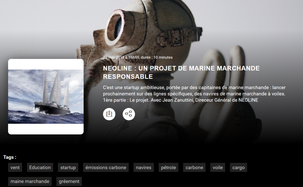 Radio: NEOLINE, a responsible merchant marine project