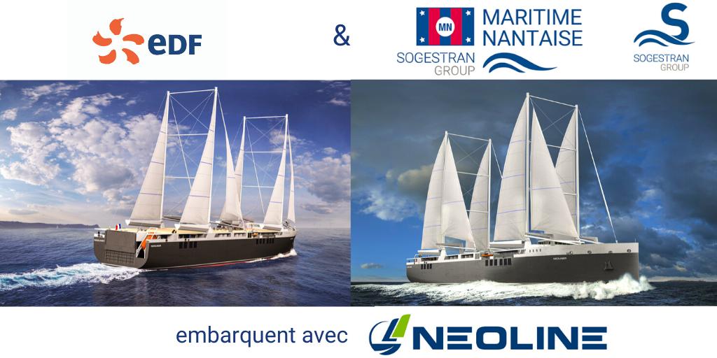 NEOLINE embarque EDF et le groupe Sogestran / COMPAGNIE MARITIME NANTAISE MN dans la transition énergétique du transport maritime