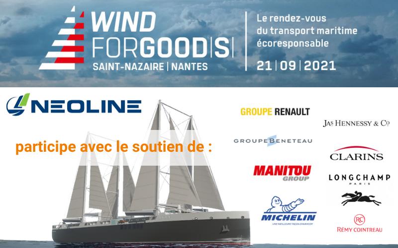 NEOLINE participe à WIND FOR GOODS avec le soutien de ses chargeurs pionniers Renault Group, Groupe Beneteau, Manitou Group, Jas Hennessy & Co, Groupe Michelin, Clarins, Longchamp et Rémy Cointreau