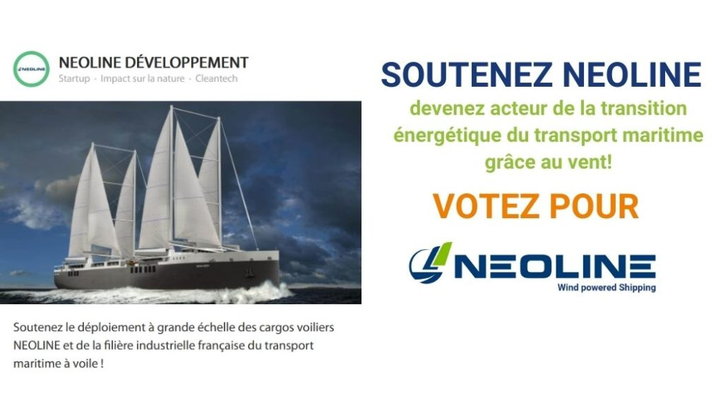 Vote for NEOLINE and the energy transition of maritime transport by the wind!