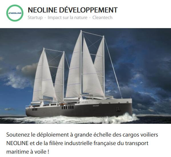 Votez pour le transport maritime à la voile by NEOLINE !